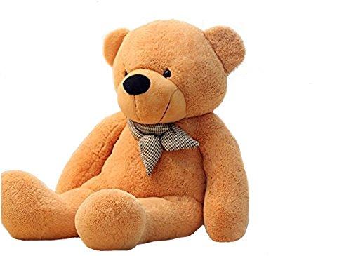 VERCART 4 Foot 47 inch Light Brown Giant Huge Cuddly Stuffed Animals Plush Teddy Bear Toy Doll
