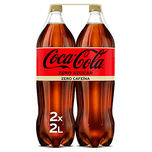 Coca-Cola Zero Azúcar Zero Cafeína - Refresco de cola sin azúcar, sin calorías, sin cafeína - Pack 2 botellas 2L