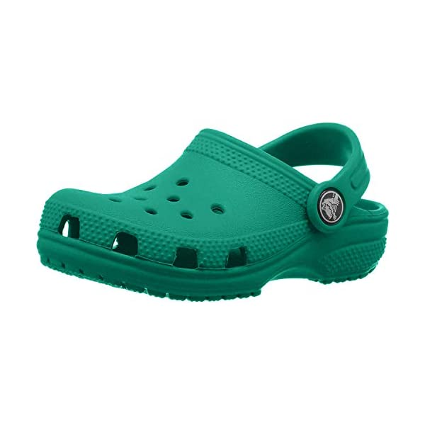 Crocs Kids' Classic Clog | Slip On Boys and Girls | Water Shoes, Deep Green,...