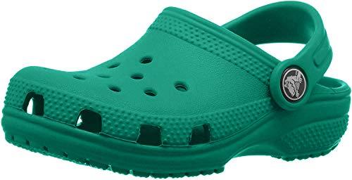 Crocs Classic Clog Kids Roomy fit, Zuecos Unisex niños, Verde (Deep Green 3tj), 32/33 EU