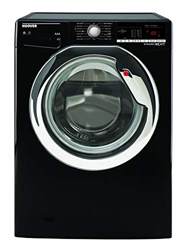 Hoover WDXOA4106HCB Freestanding Dynamic Next Washer Dryer, NFC Connected, 10kg+6kg Load, 1400rpm, Black