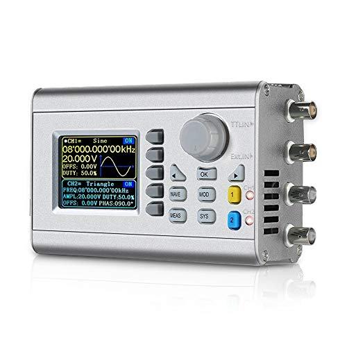 Professional Upgraded 60MHz DDS Signal Generator Counter,Seesii High Precision Dual-Channel Arbitrary Waveform Function Generator Frequency Meter 266MSa/s