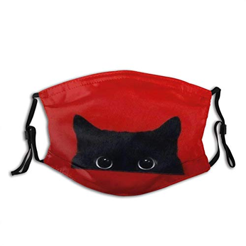 Cute Cartoon Cat Unisex Windproof and Dustproof Mouth Mask,Face Cover with Adjustable Elastic Strap