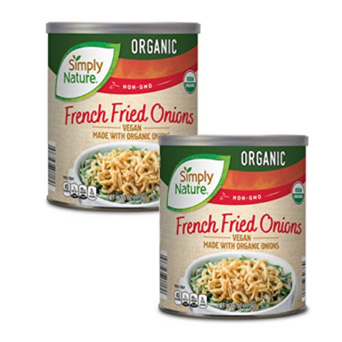 Gluten Free French Fried Onions Vegan Food Organic 6 ounces, pack of 2