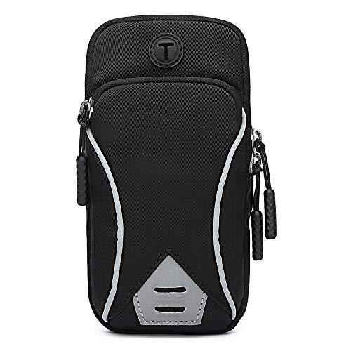 GORWRICH - Brazalete deportivo para teléfono móvil, resistente al sudor, con soporte para llaves y correa de extensión, apto para iPhone 11 11 Pro XS XR X 8 7 6S 6 hasta 6 pulgadas