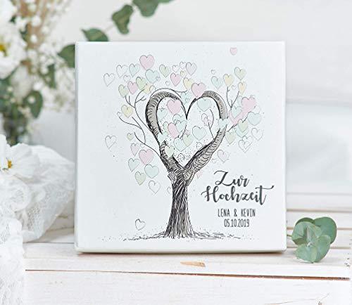 Geldgeschenk - Geld Verpackung -zur Hochzeit personalisierte Hochzeitsgeschenke für Brautpaar - Tree of Love