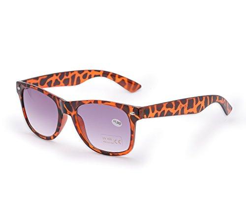 Morefaz New dames heren +1.5 zonne-leesbril vinatge retro tegen zonlicht in de zon te lezen bril (TM)