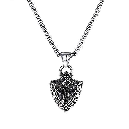 NC520 Collar de Acero Inoxidable Cadena de Hombre Accesorios góticos Vikingos Cruz Assassins Creed Colgante Vintage Piratas del Caribe