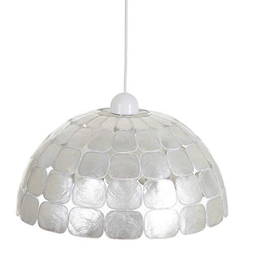 Lámpara de techo tulipa contemporáneo de nácar blanco, de ø 42x23 cm - LOLAhome