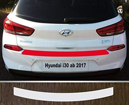 passgenau für Hyundai i30, ab 2017, Lackschutzfolie Ladekantenschutztransparent