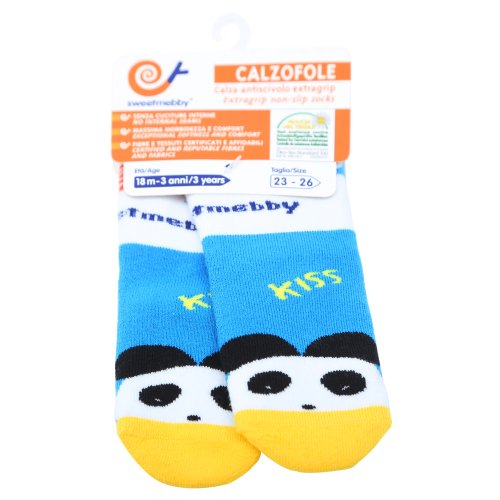 Mebby - 91475 - Calzofole Chaussettes pour Bébé - Panda - 18 mois - 3 ans - 23/26