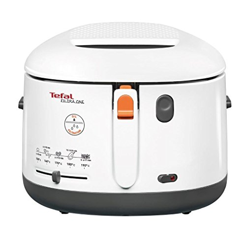 Tefal Filtra One Deep Fryer, (5 Portions), 1.2 Kg Capacity, 1900 W, Exclusive Oil Filter, White