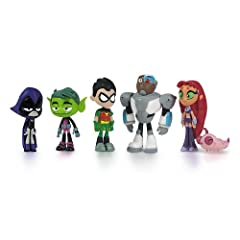 Fully Articulated 6 Characters from the TV show Collect them all! Perfect for any Teen Titans fan! Raven, Beast Boy, Robin, Cyborg, Starfire and Silkie Made by Jazwares