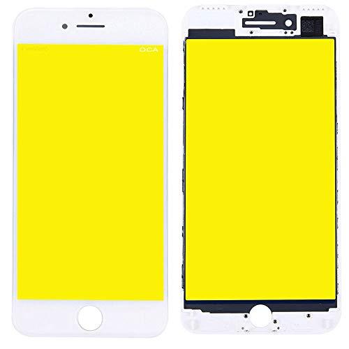 Display Glas für Apple iPhone 7 4.7 Displayglas LCD + Rahmen + OCA Kleber Ersatzteil Weiß