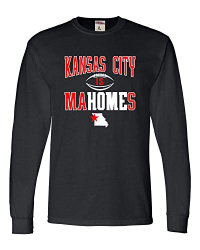 Go All Out Medium Black Adult Kansas City is Mahomes Long Sleeve T-Shirt