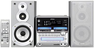 Victor ビクター ダブルMD/CD/カセット コンポ UX-W500