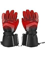 Verwarmde Handschoenen Elektrische verwarmingshandschoen met Warmte-Instellingen op 3 Niveaus Winter Handwarmers Dames Heren Thermische Handschoenen met Oplaadbare 4800mAh Batterij