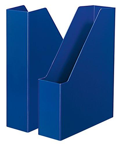 HAN i-Line 16501-14 - Archivador de pie (2 unidades), diseño elegante y moderno, para cuadernos, revistas y carpetas hasta A4/C4, color azul