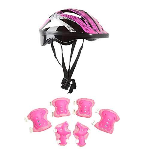 Fajwskjw Rollschuh-Schutzausrüstung für Kinder, professionelle 7-in-1-Schutzausrüstung, Helm, Knieschützer, Ellbogenschützer, Handgelenkschützer, Outdoor-Sportschutzkleidung für Kinder 2021