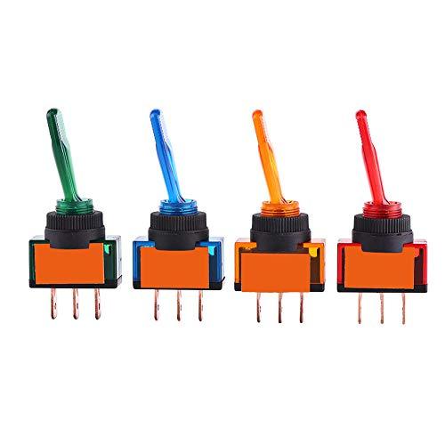 Esenlong 12V 20A Led on/Off 3 Pin Spst Interruptor Basculante de Palanca para Coche Auto Camión Barco 4 Unids/Lote