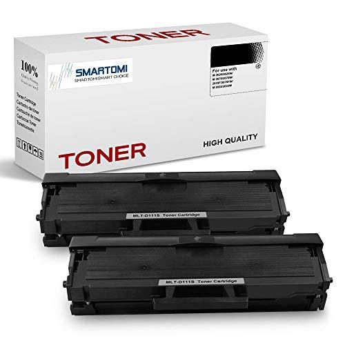 SMARTOMI, confezione da 2, cartucce toner nero MLT-D111S compatibili con Samsung MLTD111S per uso con stampanti Xpress serie SL- M2026 M2020 M2070 M20