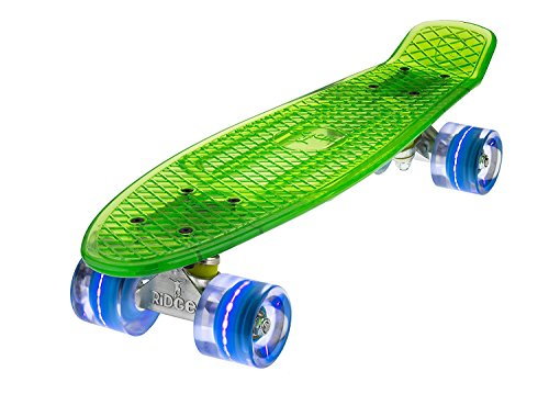 Ridge Skateboard Mini Cruiser, Grün/Blau, One size, BLAZE-GREEN-BLUE