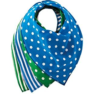 Firefly by Leckey Budz - Bandana Bibs for Special Needs Kids - Blue and Green, Size 1