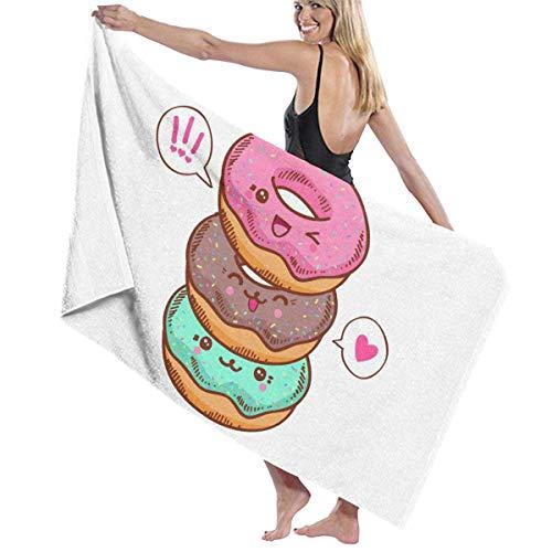 Jupsero Toallas multiusos lindas de las fibras del donut de la hoja de baño grande/toalla de playa/toalla de baño
