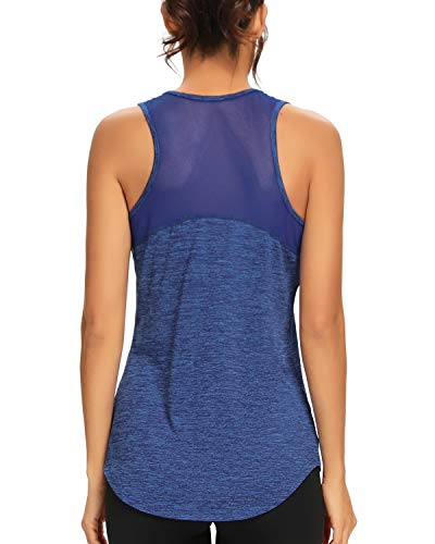 Quccefods Womens Workout Tank Tops Yoga Shirts Mesh Racerback Sports Training Running Tank Tops Workout Clothes