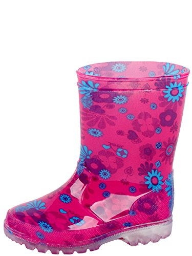 Gevavi Boots PINK07300 Pink Bottes pour fille PVC Rose Taille 30