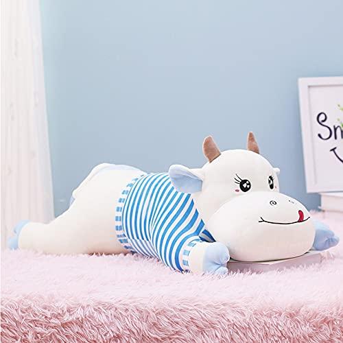 45-120 cm lindo juguete de peluche de vaca gigante de peluche de juguete animal de peluche lindo cojín de almohada de vaca de dibujos animados niños niñas niños regalos de cumpleaños 100 cm azul