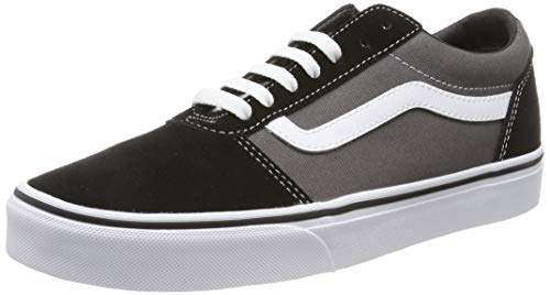 Vans Ward, Zapatillas para Hombre, Multicolor ((Suede/Canvas) Black/Pewter Ug7), 43 EU