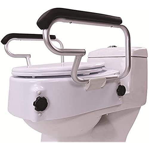 Antar AT51204 - Rialzo per WC con coperchio e braccioli, 5000 g