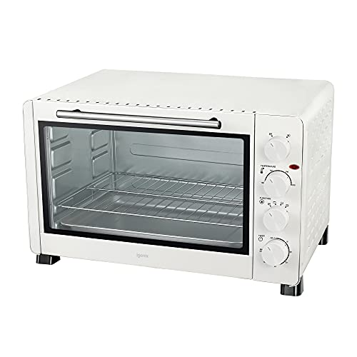 Igenix IG7161 60 Litre Countertop Mini Oven, Fan Assisted Electric Cooker & Grill, Ideal for Roasting, Baking, Grilling & Reheating