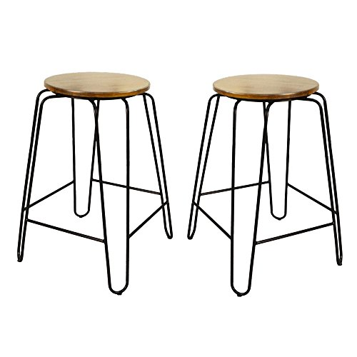 Carolina Cottage Ethan 24 in. Maple Stacking Stool (Set of 2)