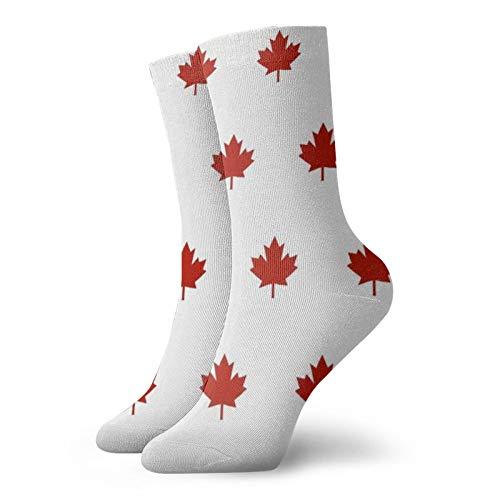 Colin-Design Red Maple Leaf Kanada Day Personalisierte Socken Sport Athletic Strümpfe 30 cm Crew Socken für Männer Frauen