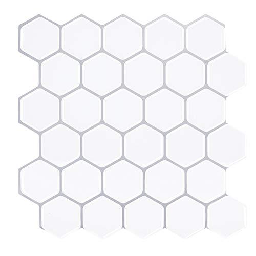 JQDZX Adhesivo para azulejos, Auto-Adhesivo Calcomanías de azulejos Resistentes al Agua y Aceite, para azulejos de baño de cocina Decoración del hogar (5pcs,A)