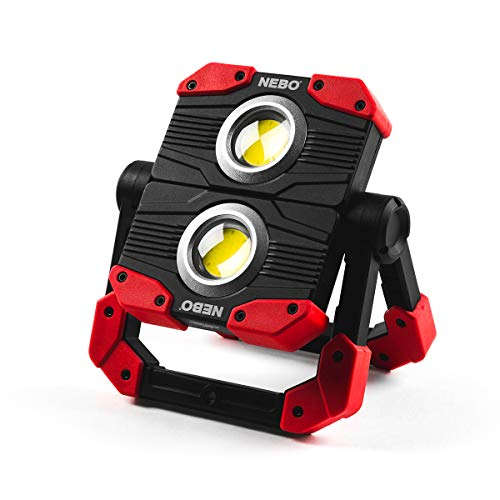 NEBO OMNI 2K Work Light: 2000 Lumen OMNI-Directional Portable Work light Flashlight Features a USB power bank