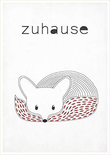 Fuchs, Zuhause, Tiere, Poster, Kunstdruck, wohnzimmer dekoration, Wohnzimmer kunstdruck, Wohnzimmer deko