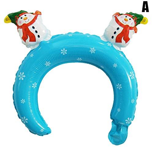 lzndeal Weihnachten, 10 Teile/Satz Kinderspielzeug Luftballons Cartoon Aluminium Film Weihnachten Halloween Stirnband Luftballons Kleines Geschenk Bunte Attraktive