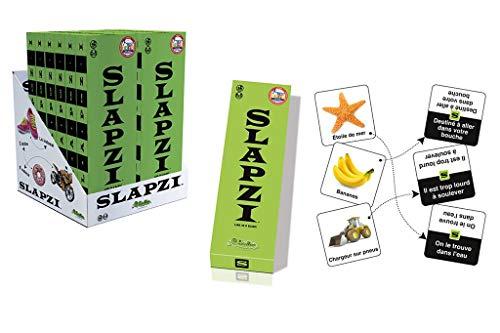 CreativaMente Games: SLAPZI 9.5x28c3.5cm, Contents: 126 cards with 252 images, 61 cards with instructions, 2 instruction cards, 6+