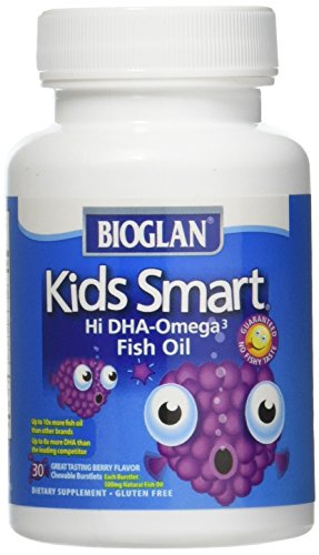 BIOGLAN - Kids Smart Hi DHA-Omega 3 Fish Oil Berry Flavor - 30 Chewable Burstlets