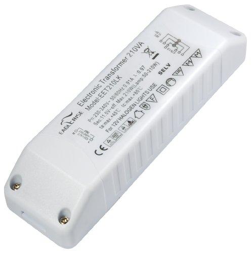 Transmedia LT4 Halogen-Trafo 230/12V/50-210W, Überlastungsschutz, Temperatursicherung, nicht dimmbar, 160 x 46 x 30 mm