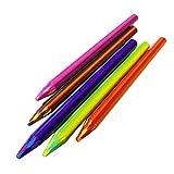 HAINAN Lápiz de arco iris mágico de 5,6 x 90 mm para dibujar a color, para la escuela, suministros de oficina, escritura suave, regalo de escritura para estudiantes y profesores