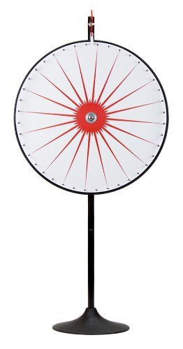 36' Custom Dry Erase White Prize Wheel with Extension Base and Extension Pole by Midway Monsters