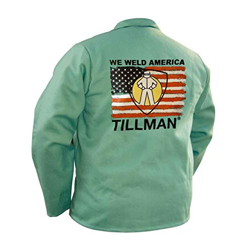Tillman We Weld America Green Fr Cotton 30in Jacket Xl As Shown by Tillman Company