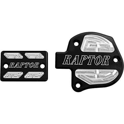 Modquad Brake & Throttle Reservoir Cover Set (Black) for 06-20 Yamaha RAPTOR700