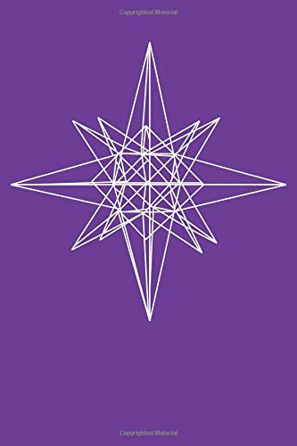 Moravian Star: Blank Lined Notebook, Journal or Diary