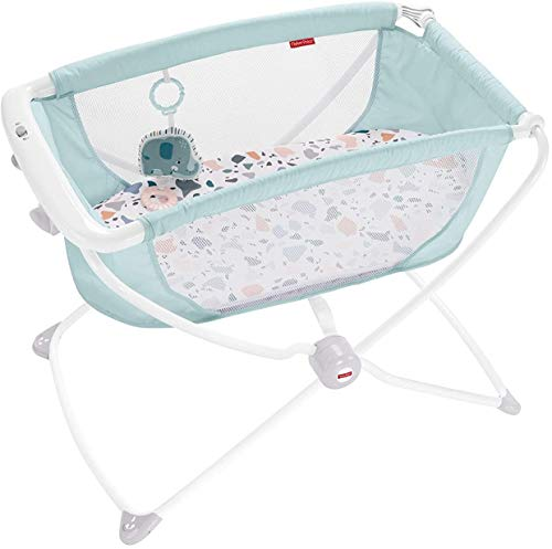 Fisher-Price Rock with Me Bassinet, Blue