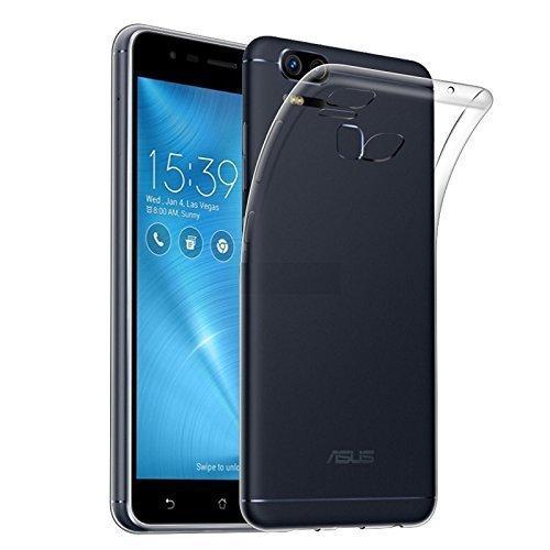 Kit Capa Silicone Flexível Transparente Zenfone 3 Zoom ZE553KL + Película De Vidro Temperado Proteção Anti Impacto